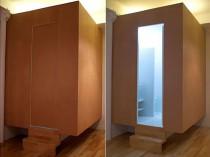 Une salle de bains dans un cube en lévitation ...