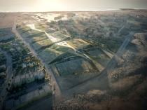Des tentes végétalisées en forme de dunes pour ...