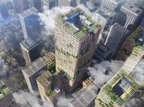 Un gratte-ciel en bois, plus haut que la tour ...