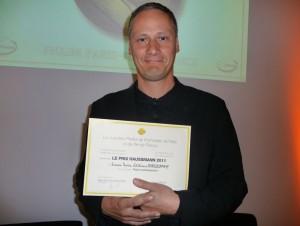 Simon Texier reçoit le Prix Haussmann 2011