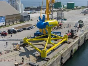 Sabella dévoile son hydrolienne D10 à Brest