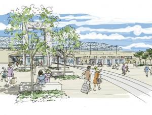 A quoi ressemblera le réaménagement de la gare ...
