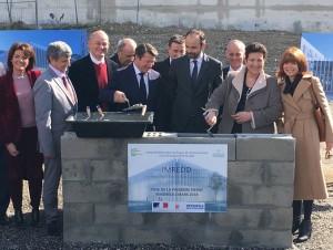 Pose de la 1re pierre de l'IMREDD à Nice-Méridia