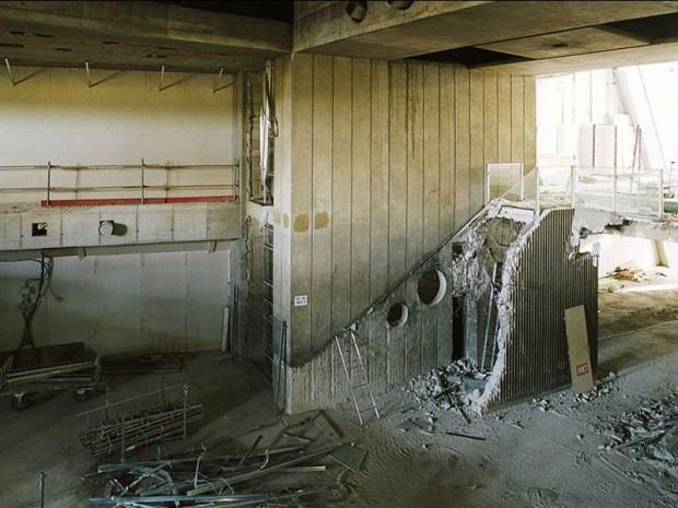 Escalators en travaux