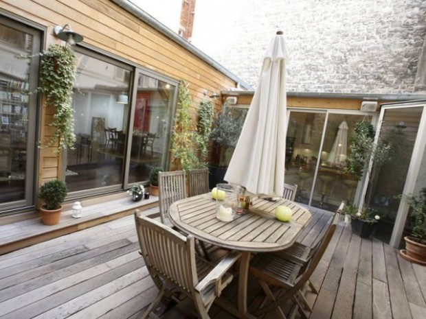 Douche for Terrasse appartement design