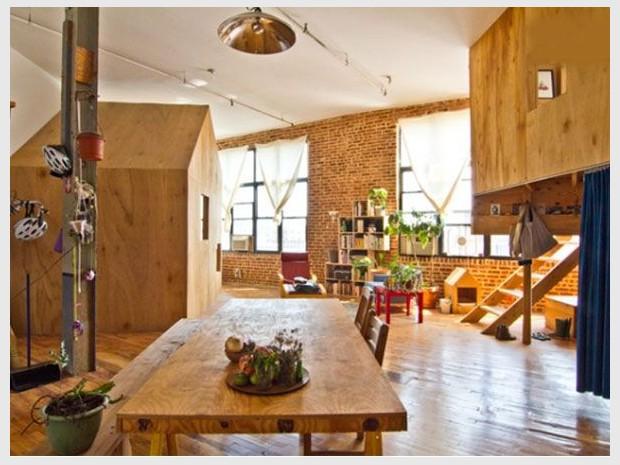 Deux maisons bois dans un loft (diaporama)