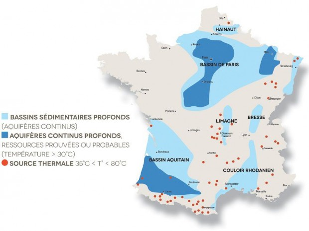 Géothermie en France sources