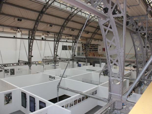 Pavillon de l'arsenal exposition work in process