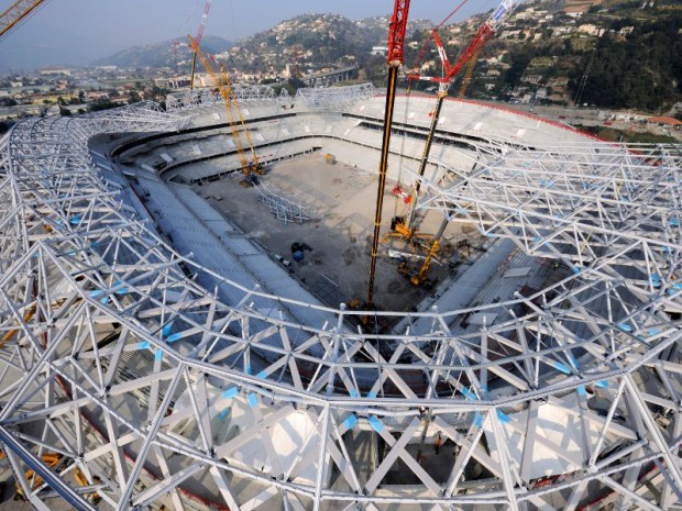 Chantier de l'Allianz Riviera à Nice