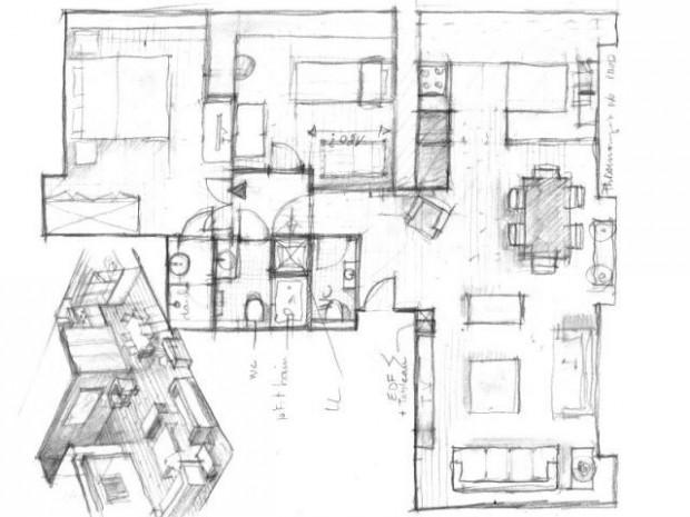 une r partition des pi ces savamment r fl chie. Black Bedroom Furniture Sets. Home Design Ideas