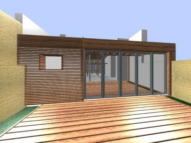 Modélisation extension bois