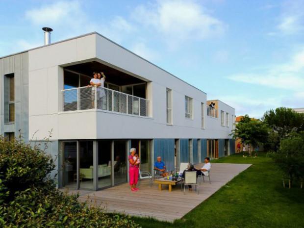 Une maison bioclimatique intergénérationnelle