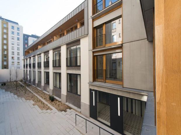 Sur l vation l g re pour 36 logements sociaux parisiens page 5 - Francois brugel architecte ...
