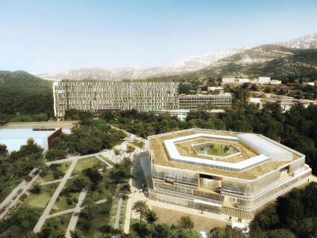 Réhabilitation de l'Hexagone dans le campus Luminy à Marseille