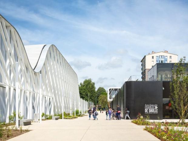 Livraison du Campus-Trivaux-Garenne de Clamart conçu par Gaëtan Le Penhuel & Associés
