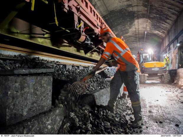 Cet été, sur le RER A une rénovation de 4,3 km de voies entre les gares de La Défense et Nation