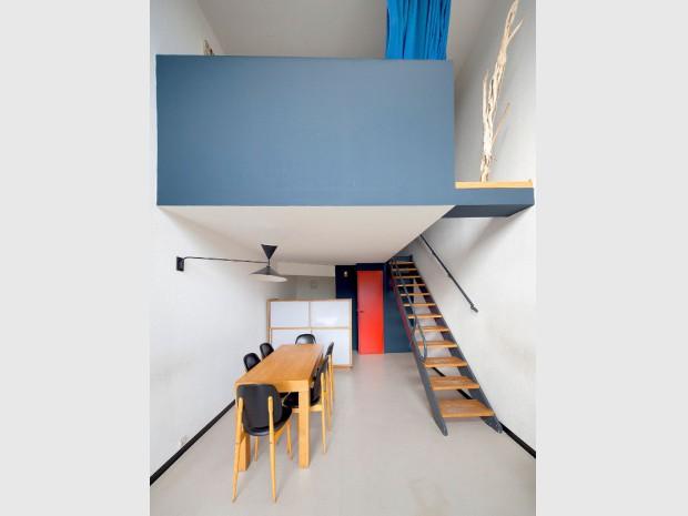 La Maison de la Culture à Firminy (Loire) réalisée par Le Corbusier inscrite sur la Liste du patrimoine mondial de l'UNESCO depuis juillet 2016