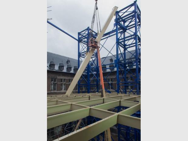 Maison portuaire d'Anvers en construction