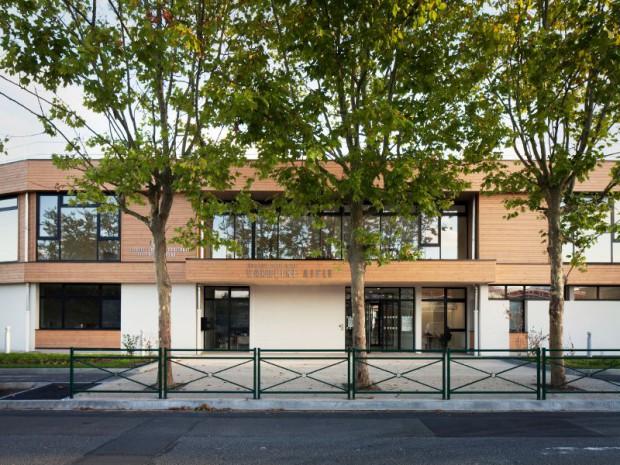 Groupe scolaire du quartier Camille Claudel à Palaiseau (Hauts-de-Seine) réalisé par Daudré-Vignier & associés