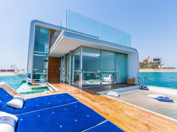 Les villas floating seahorse du r ve la r alit for Villa de luxe dubai