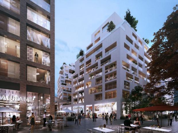 Le nouveau projet de centre-ville de Bobigny situé à l'emplacement actuel du centre commercial Bobigny 2 en Seine-Saint-Denis