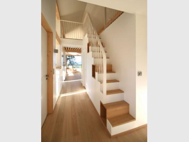 escalier droit etroit