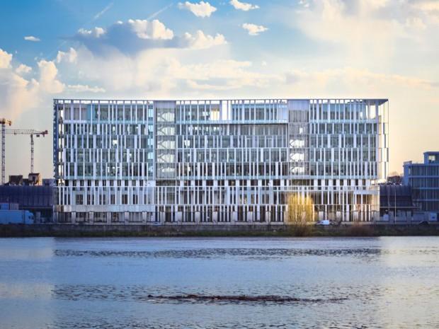 Inauguration le 18 mai 2017 du nouveau siège de la Caisse d'Epargne-Aquitaine-Poitou-Charentes réalisé par Architecture-Studio