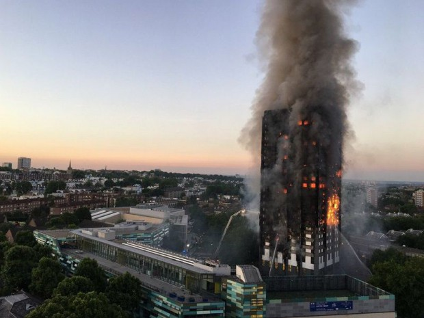 Grenfell tower à Londres