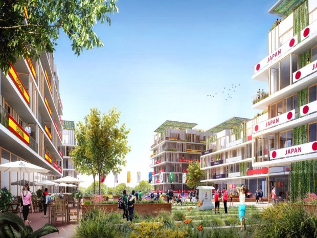 Site JO Paris 2024 : le village de Pleyel sur les Bords de Seine en Seine-Saint-Denis