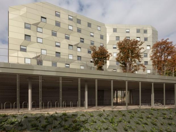 Réalisation de la Maison de l'Île-de-France à la Cité Internationale Universitaire de Paris imaginée par l'agence ANMA