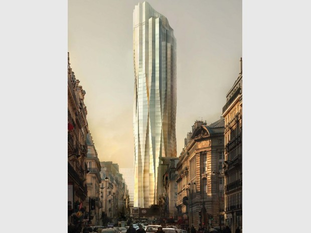Projet de Studio Gang à l'exposition au Pavillon de l'Arsenal : Métamorphose de la Tour Montparnasse-Consultation internationale