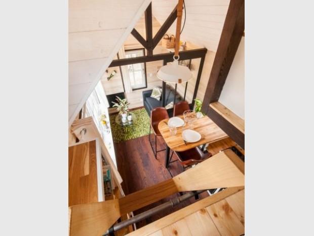 Le mobilier participe de l'ambiance loft