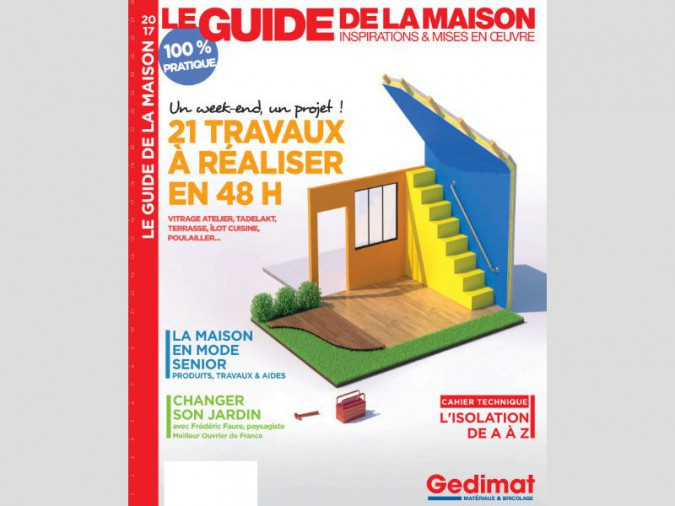 le guide de la maison 2017 de gedimat est en kiosque. Black Bedroom Furniture Sets. Home Design Ideas