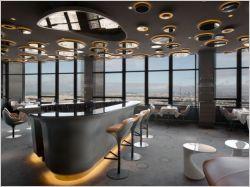 Le ciel de paris un restaurant miroir du paysage for Le miroir restaurant