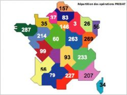 Carte de France des op�rations BBC
