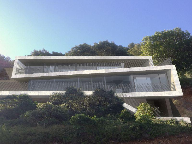 Une villa d'architecte perchée sur la colline ...