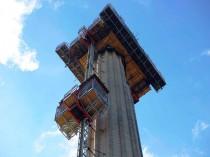 Un chantier à plus de 60 mètres de haut ...