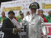 Courte manifestation des ouvriers d'ArcelorMittal ...