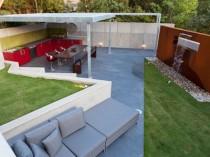 Un jardin défragmenté en cinq espaces à vivre