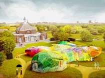 Un cocon arc-en-ciel pour la Serpentine Gallery