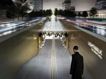 Un pôle de gare à Séoul en forme de faisceau, ...