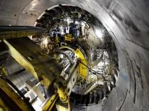 Lyon-Turin : le tunnelier Federica en action ...