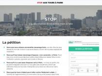 Une pétition contre les tours à Paris