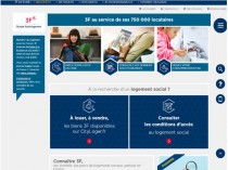 Relooking pour le site groupe 3F