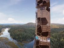 """Une tour """"paléo-futuriste"""" au beau milieu de la forêt"""