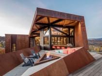 Acier, pierre, bois et verre pour une résidence ...