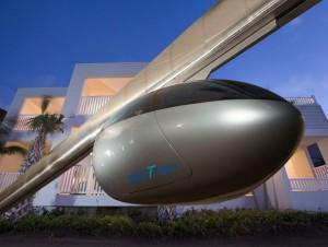 SkyTran, des capsules volantes