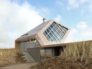 Une maison construite comme une dune