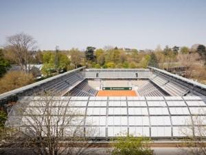 A Roland Garros, les serres sortent de terre ...
