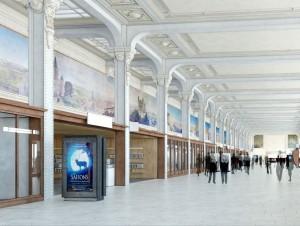 A Paris gare de Lyon, la Galerie des fresques ...